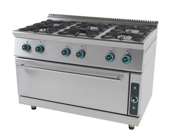Εικόνα της Κουζίνα Αερίου με 6 εστίες και φούρνο αερίου, σειρά 750, FC6FLS7 SER GAS