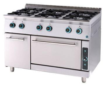 Εικόνα της Κουζίνα Αερίου με 6 εστίες και φούρνο αερίου και ερμάριο, σειρά 750, FC6FS7 SER GAS