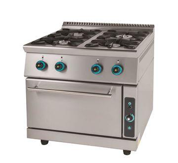 Εικόνα της Κουζίνα Αερίου με 4 εστίες και φούρνο αερίου, σειρά 900, FC4FS9 SER GAS