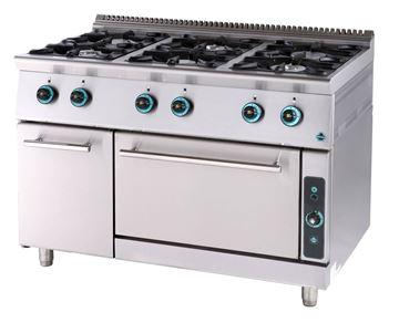 Εικόνα της Κουζίνα Αερίου με 6 εστίες και φούρνο αερίου και ερμάριο, σειρά 900,  FC6FS9 SER GAS
