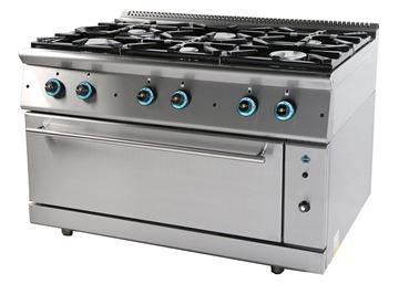 Εικόνα της Κουζίνα Αερίου με 6 εστίες και φούρνο αερίου, σειρά 900, FC6FLS9 SER GAS