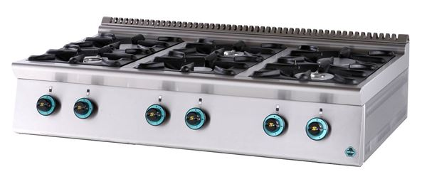 Εικόνα της Εστία Αερίου με 6 εστίες, σειρά 900, FC6S9 SER GAS