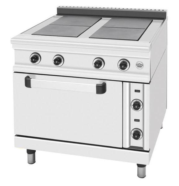 Εικόνα της Κουζίνα Ηλεκτρική με 4 εστίες και φούρνο, σειρά 900, FC4FE SER GAS