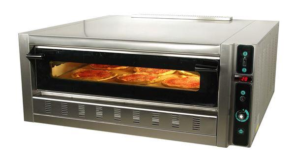 Εικόνα της Φούρνος Πίτσας Αερίου FG6L, 1 όροφος για 6 πίτσες φ 30 cm, Ser Gas