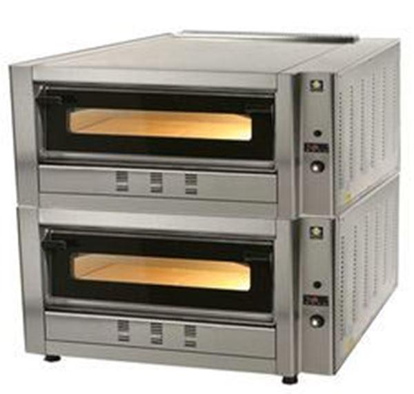 Εικόνα της Φούρνος Πίτσας Αερίου FG4D, 2 όροφοι για 4+4 πίτσες φ 30 cm, Ser Gas