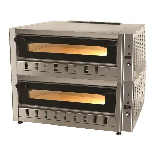 Εικόνα της Φούρνος Πίτσας Αερίου FG6LD, 2 όροφοι για 6+6 πίτσες φ 30 cm, Ser Gas