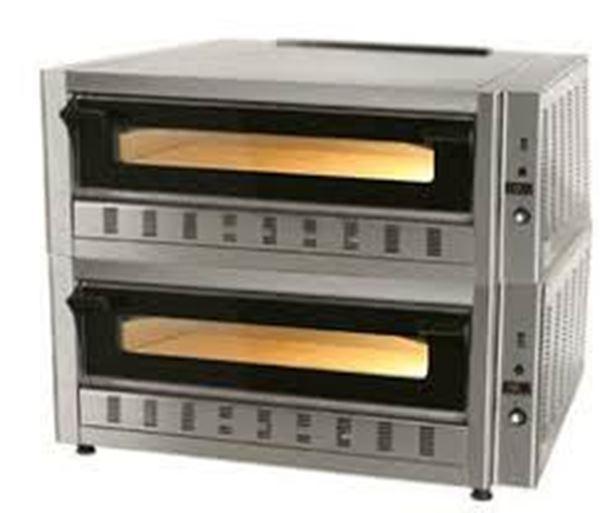 Εικόνα της Φούρνος Πίτσας Αερίου FG9D, 2 όροφοι για 9+9 πίτσες φ 30 cm, Ser Gas
