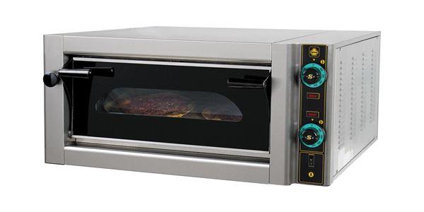 Εικόνα της Φούρνος Πίτσας Ηλεκτρικός F4, 1 όροφος για 4 πίτσες φ 30 cm, Ser Gas