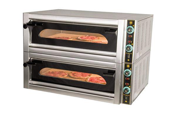 Εικόνα της Φούρνος Πίτσας Ηλεκτρικός F12L, 2 όροφοι για 12 πίτσες φ 30 cm, Ser Gas