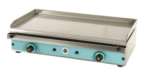 Εικόνα της Πλατώ Αερίου επιτραπέζιο, με λεία πλάκα ανοξείδωτη 38x79,5 cm, P80 Ser Gas