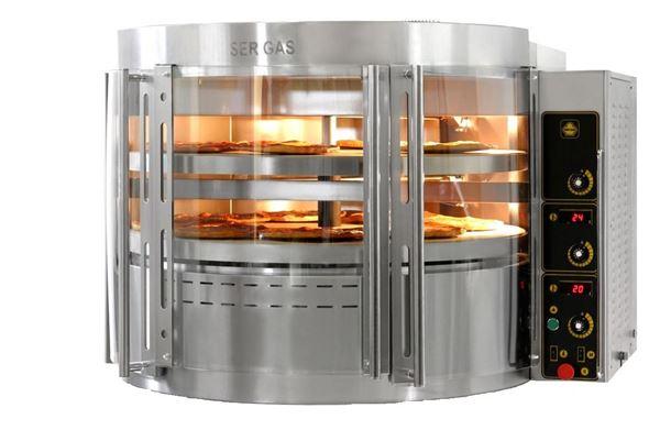 Εικόνα της Φούρνος Πίτσας Αερίου RP2 με περιστρεφόμενη πλάκα, 2 όροφοι για 14 πίτσες φ30 cm Ser Gas