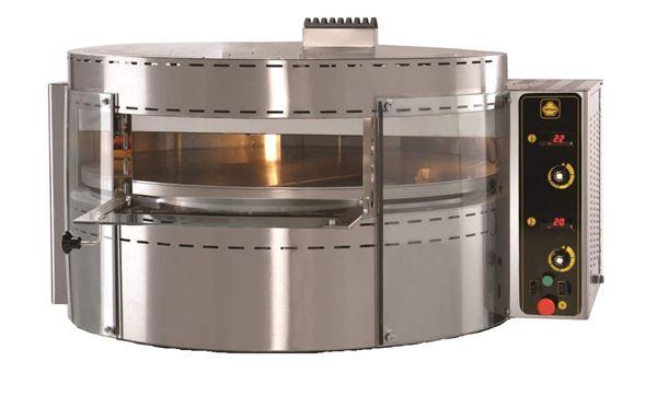 Εικόνα της Φούρνος Πίτσας Αερίου RP1 με περιστρεφόμενη πλάκα, 1 όροφος για 7 πίτσες φ 30 cm, Ser Gas
