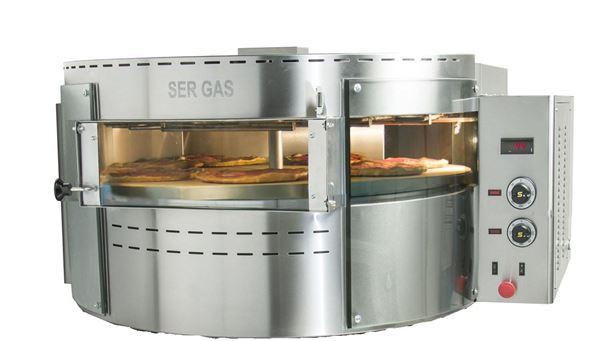Εικόνα της Φούρνος Πίτσας Ηλεκτρικός RPE1 με περιστρεφόμενη πλάκα, 1 όροφος για 7 πίτσες φ 30 cm Ser Gas