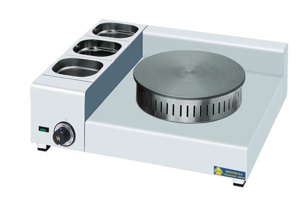 Εικόνα της Κρεπιέρα Ηλεκτρική Μονή φ35 cm με 3 λεκανάκια, KEL1X35 SER GAS