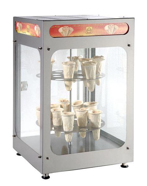 Εικόνα της Βιτρίνα Θερμαινόμενη Περιστροφική, για 4 πίτσες φ30 cm ή 32 πίτσες χωνάκι, C32 SER GAS