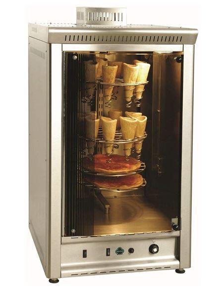 Εικόνα της Φούρνος Αερίου Κυκλοθερμικός με περιστρεφόμενες βάσεις για πίτσα, FP Ser Gas