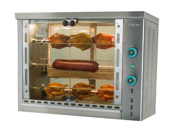Εικόνα της Κοτοπουλιέρα Αερίου 3 σουβλών SG3, για 12- 15 κοτόπουλα SER GAS