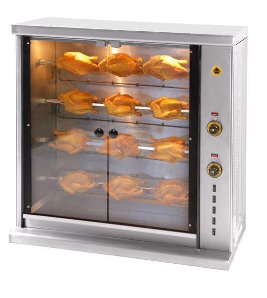 Εικόνα της Κοτοπουλιέρα Ηλεκτρική 4 σουβλών SE4, για 15- 20 κοτόπουλα SER GAS