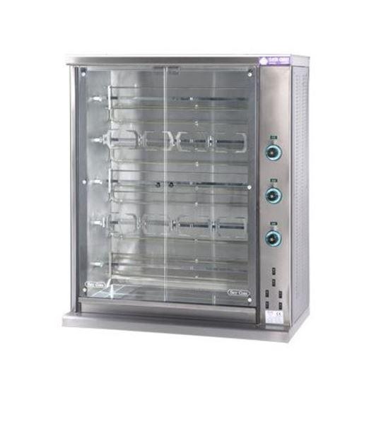 Εικόνα της Κοτοπουλιέρα Ηλεκτρική 5 σουβλών SE5, για 20- 25 κοτόπουλα SER GAS