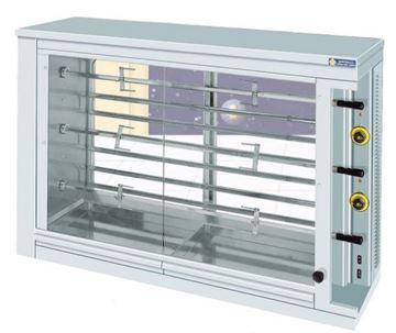 Εικόνα της Κοτοπουλιέρα Ηλεκτρική 3 σουβλών KE3, για 18- 21 κοτόπουλα SER GAS