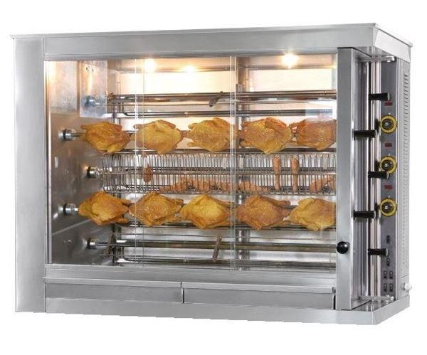 Εικόνα της Κοτοπουλιέρα Ηλεκτρική 5 σουβλών KE5, για 30- 35 κοτόπουλα SER GAS