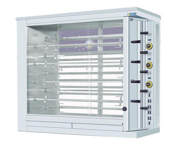 Εικόνα της Κοτοπουλιέρα Ηλεκτρική 9 σουβλών KE9, για 54- 63 κοτόπουλα SER GAS
