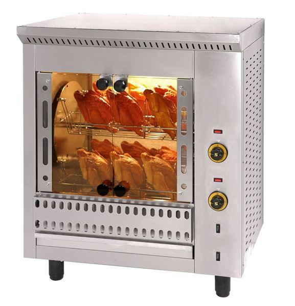 Εικόνα της Κοτοπουλιέρα Ηλεκτρική Περιστροφική με 4 καλάθια T16, για 16 κοτόπουλα SER GAS