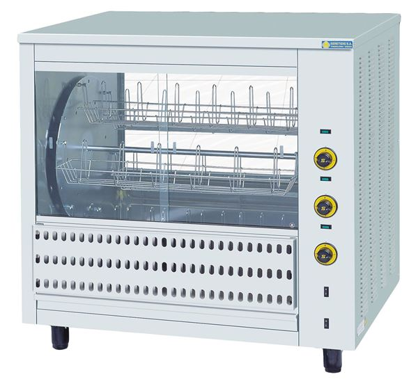 Εικόνα της Κοτοπουλιέρα Ηλεκτρική Περιστροφική με 6 καλάθια T36, για 36 κοτόπουλα SER GAS