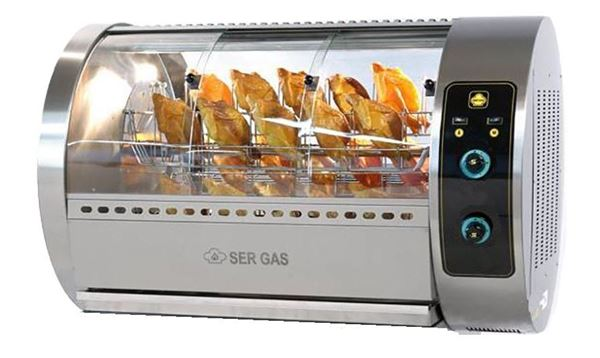 Εικόνα της Κοτοπουλιέρα Αερίου Περιστροφική με 5 καλάθια T30G, για 30 κοτόπουλα SER GAS