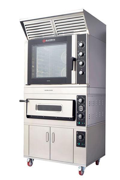 Εικόνα της Φούρνος Κυκλοθερμικός Ηλεκτρικός και Φούρνος Πίτσας Ηλεκτρικός με Στόφα και Απορροφητήρα Vezuvio Garbin