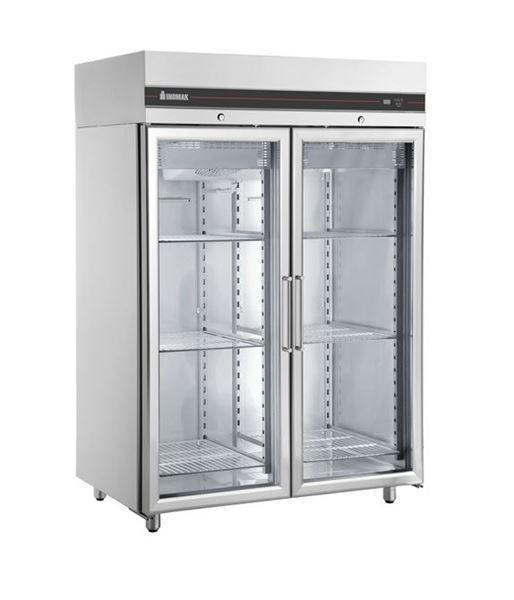 Εικόνα της Ψυγείο Θάλαμος Βιτρίνα Κατάψυξη με 2 Πόρτες και Ψυκτικό Μηχάνημα, CFP2144/GL INOMAK