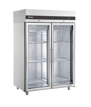 Εικόνα της Ψυγείο Θάλαμος Βιτρίνα Κατάψυξη με 2 Πόρτες και Ψυκτικό Μηχάνημα, CFS2144/GL INOMAK