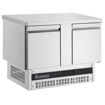 Εικόνα της Ψυγείο Πάγκος Συντήρηση με 2 πόρτες GN και Ψυκτικό Μηχάνημα κάτω, BPV7300 INOMAK