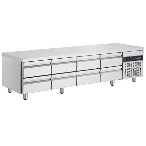 Εικόνα της Ψυγείο Πάγκος Χαμηλό Συντήρηση με 8 συρτάρια GN και Ψυκτικό Μηχάνημα, PWN3333 INOMAK