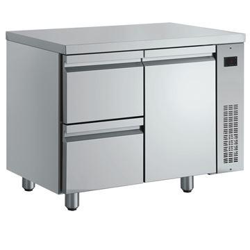 Εικόνα της Ψυγείο Πάγκος Συντήρηση με 1 πόρτα και 2 συρτάρια GN χωρίς Ψυκτικό Μηχάνημα, PNN29/RU INOMAK