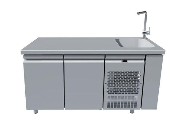 Εικόνα της Ψυγείο Πάγκος Συντήρηση Με 2 Πόρτες Με Γούρνα 40Χ40 PG159-40L