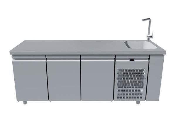 Εικόνα της Ψυγείο Πάγκος Συντήρηση Με 3 Πόρτες Με Γούρνα 40Χ40 PG250-40L