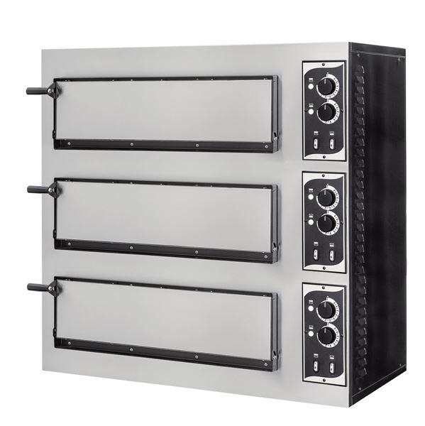 Εικόνα της Φούρνος Πίτσας Ηλεκτρικός SMALL BASIC 3/50 PRISMA FOOD, 3 όροφοι για 1+1+1 πίτσες φ45 cm ή 3 60χ40 cm