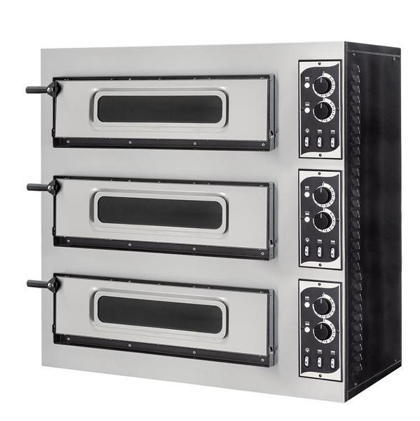 Εικόνα της Φούρνος Πίτσας Ηλεκτρικός SMALL BASIC 3/50 VETRO PRISMA FOOD, 3 όροφοι για 3 πίτσες φ45 cm ή 3 60χ40 cm