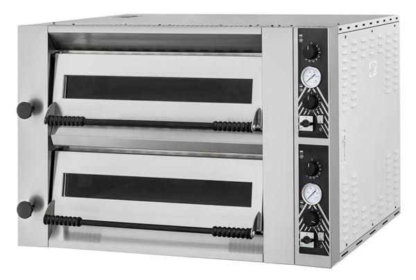 Εικόνα της Φούρνος Πίτσας Ηλεκτρικός SIDEUP 66L PRISMA FOOD, 2 όροφοι για 6+6 πίτσες φ34 εκ