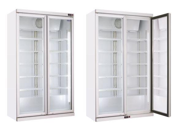 Εικόνα της Ψυγείο Βιτρίνα Διπλή, με Ανοιγόμενες Πόρτες, 112 cm 1050 lt