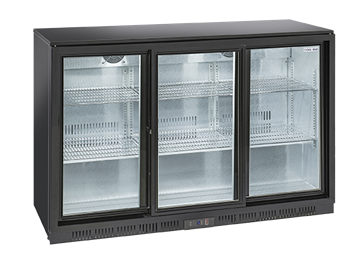 Εικόνα της Ψυγείο Back Bar με Συρόμενες Πόρτες Επιτραπέζιο, 135 cm 350 lt