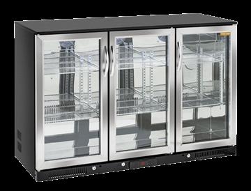 Εικόνα της Ψυγείο Back Bar με 3 Ανοξείδωτες Ανοιγόμενες Πόρτες Επιτραπέζιο, 135 cm 320 lt