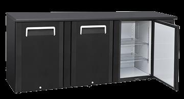 Εικόνα της Ψυγείο Back Bar με 3 Ανοιγόμενες Τυφλές Πόρτες Επιτραπέζιο, 500 lt
