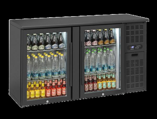 Εικόνα της Ψυγείο Back Bar με 2 Ανοιγόμενες Γυάλινες Πόρτες Επιτραπέζιο, 315 lt