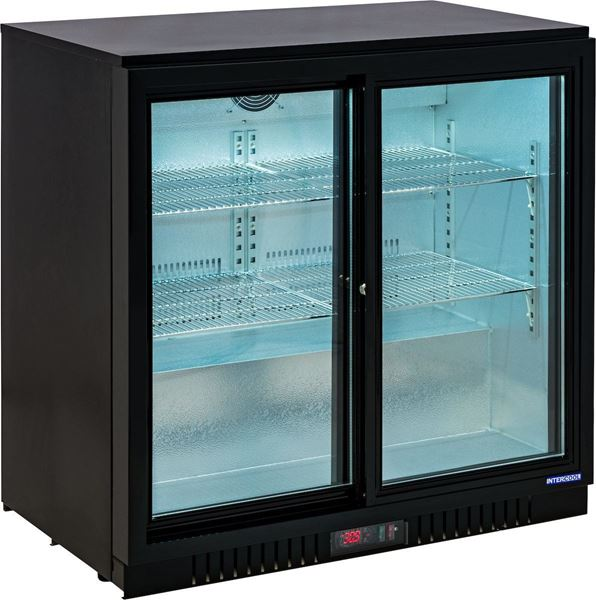 Εικόνα της Ψυγείο Back Bar Συντήρηση Επιτραπέζιο Με Συρόμενες Πόρτες, 208 lt, ICG-0208SB INTERCOOL