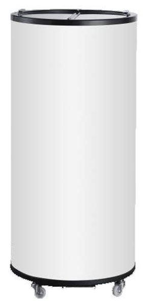 Εικόνα της Ψυγείο Συντήρηση Αναψυκτικών Στρογγυλό με Γυάλινα Καπάκια, 65 lt, INTERCOOL