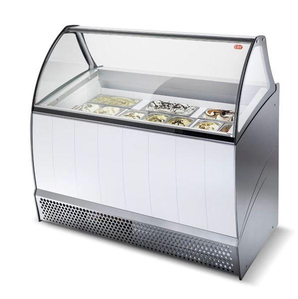 Εικόνα της Βιτρίνα χύμα παγωτού Premium 1.34 m για 10 λεκάνες, BERMUDA 10 CRYSTAL