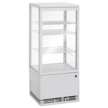 Εικόνα της Βιτρίνα Συντήρησης Επιτραπέζια Mini Cooler, Λευκό Χρώμα 78 lt