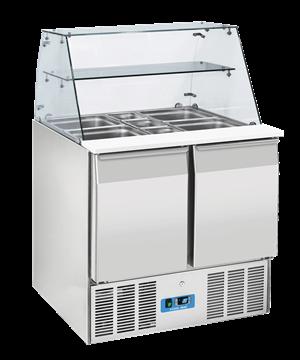 Εικόνα της Ψυγείο Βιτρίνα Σαλατών 90 cm, 200 lt